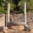 Stock Photo: Nympheum water fountain to Herdoes Atticus in OlympiGreece