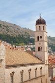 Dubrovnik Croatia clock tower and buildings — Stockfoto