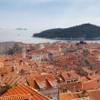 Dubrovnik rooftops with Adriatic Sea as background — Stock Photo