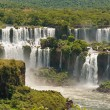 Stock Photo: Iguassu waterfalls bordering ArgentinBrazil