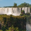 Iguassu waterfalls bordering ArgentinBrazil — Stock Photo #39626123