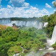 Iguassu waterfalls bordering ArgentinBrazil — Stock Photo #39626195