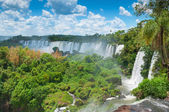 Iguassu waterfalls bordering Argentina Brazil — Stock Photo