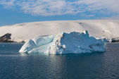 Iceberg in southern ocean off antarctic peninsula — Stock Photo