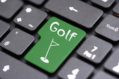 Golf on a key — Stock Photo