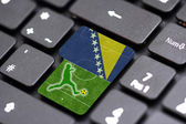 Brazil 2014 on a key — Stock Photo