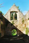 North interior Temple old church ruin 14th century — Stock Photo