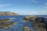 Harbour entrance at St. Abbs, Berwickshire — Stock Photo