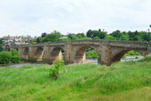 Old bridge and river Tyne at Corbridge, Northumberland — Stock Photo