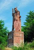 William Wallace monument above Dryburgh Abbey — Stock Photo