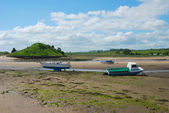 Aln river estuary at Alnmouth — Stock Photo