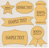 Classic labels set — Stock Vector