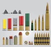 Full vector ammo set — Stock Vector