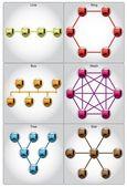 Network topologies set — Stock Vector