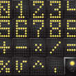 Stock Vector: Led dot display numbers