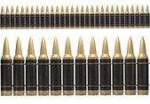 3d black ammunition belt — Stock Photo