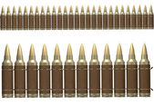 3d brown ammunition belt — Foto Stock