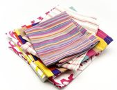 Several colored cloth napkins — Stock Photo