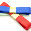 Blue and red ties — Stock Photo #12440274