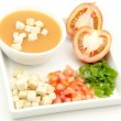 Andalusian Gazpacho — Stock Photo