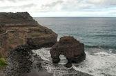 Praia com pedras — Foto Stock