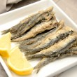 Fried anchovies - Foto Stock