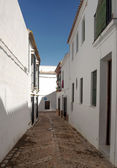 Beyaz sokak — Stok fotoğraf