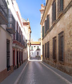 Paved street — Stock Photo