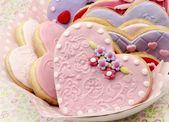 Sevgililer günü kurabiyeleri — Stok fotoğraf