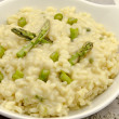 Stock Photo: Risotto asparagus