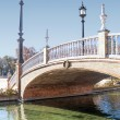 Bridge over canal - Stockfoto