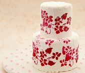 Cake decorated — Stock Photo