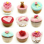 Mural of several cupcakes — Stock Photo