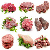 Mural various meats — Stock Photo