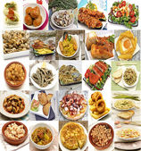 Mural of Spanish dishes — Stock Photo