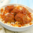 Stewed meatballs — Stock Photo