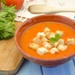 Cold gazpacho soup — Stock Photo