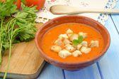 Gazpacho zimna zupa — Zdjęcie stockowe