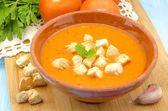 Kall gazpacho soppa — Stockfoto