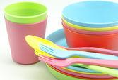 Plastikowe naczynia — Zdjęcie stockowe