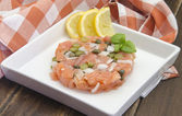 Smoked salmon tartare — Foto Stock