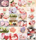 Collage of cookies decorated — Stock Photo