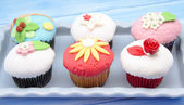 Cupcakes decorated — Stock Photo