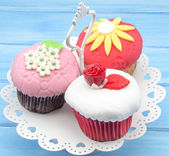 Cupcakes decorated — Stock Photo