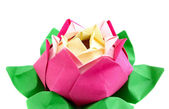 Flower origami — Stock Photo