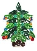 Christmas tree quilling — Stock Photo