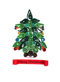 Christmas tree made of quilling — Stock Photo