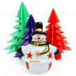 Ceramic snowman — Stock Photo #15947585