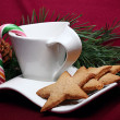 Gingerbread and a cup - Stock Photo
