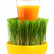 Ecological food.Natural juice in glass. — Stock Photo #39606837